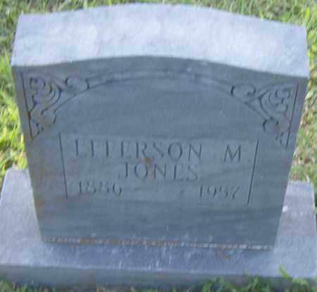JONES, EFFERSON  M. - Pulaski County, Arkansas | EFFERSON  M. JONES - Arkansas Gravestone Photos
