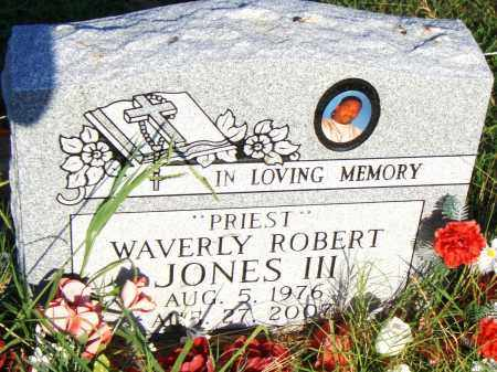 JONES III, WAVERLY ROBERT - Pulaski County, Arkansas | WAVERLY ROBERT JONES III - Arkansas Gravestone Photos