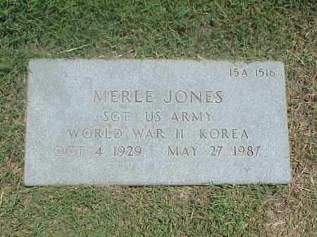 JONES (VETERAN 2 WARS), MERLE - Pulaski County, Arkansas   MERLE JONES (VETERAN 2 WARS) - Arkansas Gravestone Photos