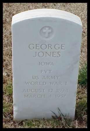 JONES (VETERAN WWI), GEORGE - Pulaski County, Arkansas | GEORGE JONES (VETERAN WWI) - Arkansas Gravestone Photos
