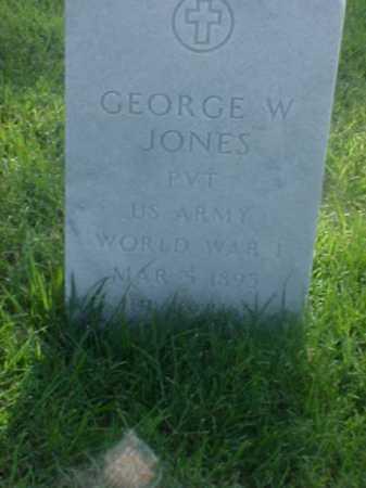 JONES (VETERAN WWI), GEORGE W - Pulaski County, Arkansas | GEORGE W JONES (VETERAN WWI) - Arkansas Gravestone Photos