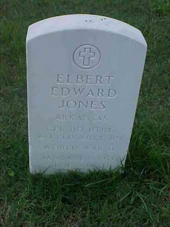 JONES (VETERAN WWII), ELBERT EDWARD - Pulaski County, Arkansas | ELBERT EDWARD JONES (VETERAN WWII) - Arkansas Gravestone Photos