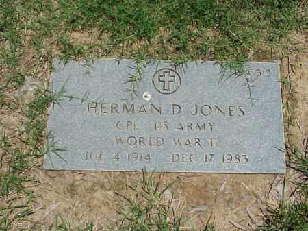 JONES (VETERAN WWII), HERMAN D - Pulaski County, Arkansas | HERMAN D JONES (VETERAN WWII) - Arkansas Gravestone Photos