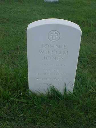 JONES (VETERAN WWII), JOHNIE WILLIAM - Pulaski County, Arkansas   JOHNIE WILLIAM JONES (VETERAN WWII) - Arkansas Gravestone Photos