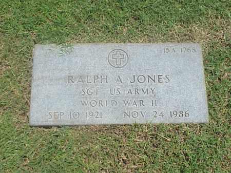 JONES (VETERAN WWII), RALPH A - Pulaski County, Arkansas   RALPH A JONES (VETERAN WWII) - Arkansas Gravestone Photos
