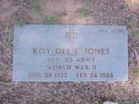 JONES (VETERAN WWII), ROY OLLIE - Pulaski County, Arkansas | ROY OLLIE JONES (VETERAN WWII) - Arkansas Gravestone Photos