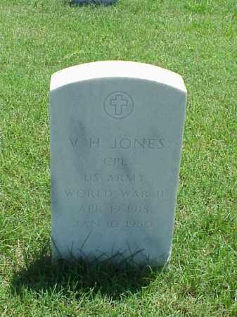 JONES (VETERAN WWII), V H - Pulaski County, Arkansas   V H JONES (VETERAN WWII) - Arkansas Gravestone Photos