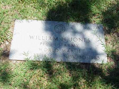 JONES (VETERAN WWII), WILLIAM H - Pulaski County, Arkansas   WILLIAM H JONES (VETERAN WWII) - Arkansas Gravestone Photos