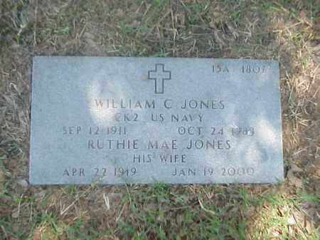 JONES (VETERAN WWII), WILLIAM C - Pulaski County, Arkansas | WILLIAM C JONES (VETERAN WWII) - Arkansas Gravestone Photos