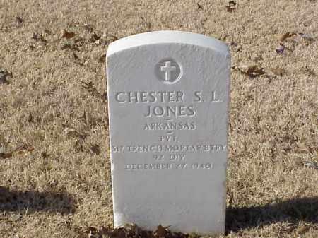 JONES (VETERAN WWI), CHESTER S L - Pulaski County, Arkansas   CHESTER S L JONES (VETERAN WWI) - Arkansas Gravestone Photos
