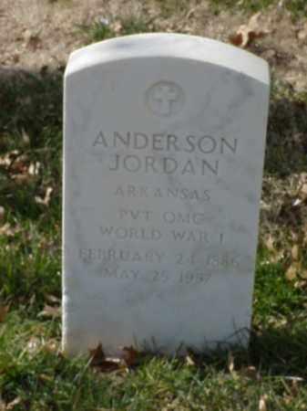 JORDAN  (VETERAN WWI), ANDERSON - Pulaski County, Arkansas   ANDERSON JORDAN  (VETERAN WWI) - Arkansas Gravestone Photos