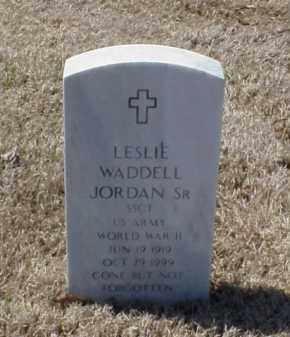 JORDAN, SR (VETERAN WWII), LESLIE WADDELL - Pulaski County, Arkansas   LESLIE WADDELL JORDAN, SR (VETERAN WWII) - Arkansas Gravestone Photos