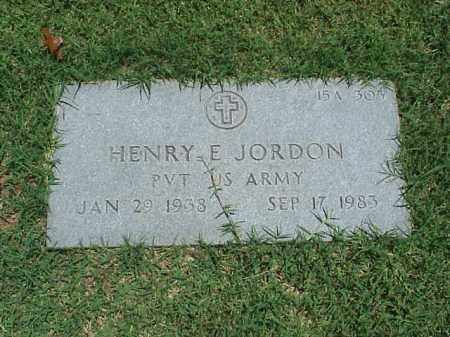 JORDAN (VETERAN), HENRY E - Pulaski County, Arkansas   HENRY E JORDAN (VETERAN) - Arkansas Gravestone Photos