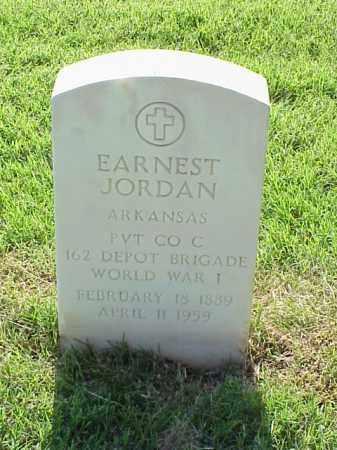 JORDAN (VETERAN WWI), EARNEST - Pulaski County, Arkansas | EARNEST JORDAN (VETERAN WWI) - Arkansas Gravestone Photos