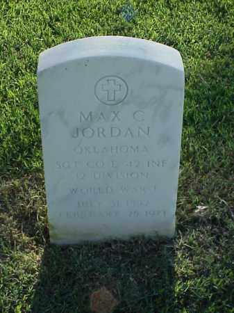JORDAN (VETERAN WWI), MAX C - Pulaski County, Arkansas | MAX C JORDAN (VETERAN WWI) - Arkansas Gravestone Photos