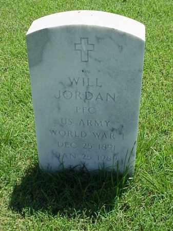JORDAN (VETERAN WWI), WILL - Pulaski County, Arkansas   WILL JORDAN (VETERAN WWI) - Arkansas Gravestone Photos