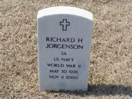 JORGENSON (VETERAN WWII), RICHARD H - Pulaski County, Arkansas | RICHARD H JORGENSON (VETERAN WWII) - Arkansas Gravestone Photos