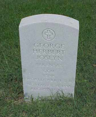 JOSLYN (VETERAN 2 WARS), GEORGE HERBERT - Pulaski County, Arkansas | GEORGE HERBERT JOSLYN (VETERAN 2 WARS) - Arkansas Gravestone Photos