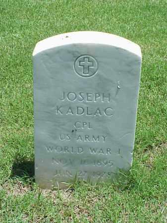 KADLAC (VETERAN WWI), JOSEPH - Pulaski County, Arkansas | JOSEPH KADLAC (VETERAN WWI) - Arkansas Gravestone Photos