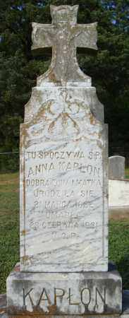 KAPLON, ANNA - Pulaski County, Arkansas | ANNA KAPLON - Arkansas Gravestone Photos