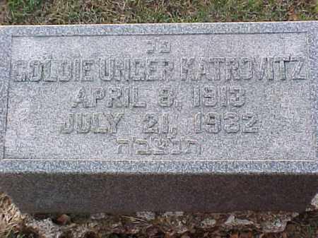 UNGER KATROVITZ, GOLDIE - Pulaski County, Arkansas | GOLDIE UNGER KATROVITZ - Arkansas Gravestone Photos
