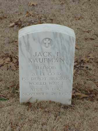 KAUFMAN (VETERAN WWI), JACK F - Pulaski County, Arkansas   JACK F KAUFMAN (VETERAN WWI) - Arkansas Gravestone Photos