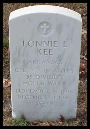 KEE (VETERAN WWI), LONNIE LEE - Pulaski County, Arkansas | LONNIE LEE KEE (VETERAN WWI) - Arkansas Gravestone Photos