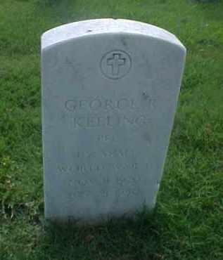 KEELING (VETERAN WWII), GEORGE R - Pulaski County, Arkansas   GEORGE R KEELING (VETERAN WWII) - Arkansas Gravestone Photos