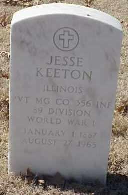 KEETON  (VETERAN WWI), JESSE - Pulaski County, Arkansas | JESSE KEETON  (VETERAN WWI) - Arkansas Gravestone Photos