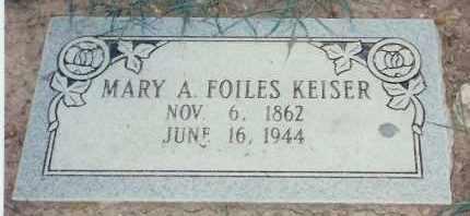 KEISER, MARY ALICE - Pulaski County, Arkansas | MARY ALICE KEISER - Arkansas Gravestone Photos