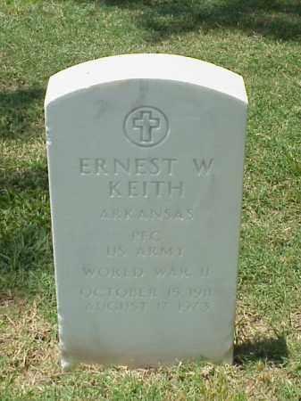 KEITH (VETERAN WWII), ERNEST W - Pulaski County, Arkansas | ERNEST W KEITH (VETERAN WWII) - Arkansas Gravestone Photos