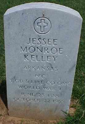 KELLEY (VETERAN WWI), JESSE MONROE - Pulaski County, Arkansas | JESSE MONROE KELLEY (VETERAN WWI) - Arkansas Gravestone Photos