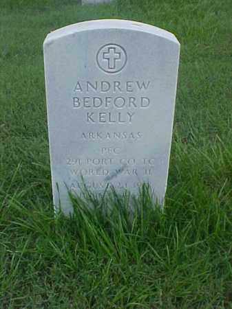 KELLY (VETERAN WWII), ANDREW BEDFORD - Pulaski County, Arkansas | ANDREW BEDFORD KELLY (VETERAN WWII) - Arkansas Gravestone Photos