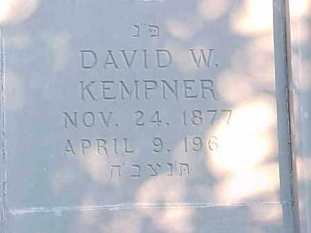 KEMPNER, DAVID W - Pulaski County, Arkansas   DAVID W KEMPNER - Arkansas Gravestone Photos