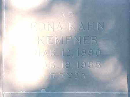 KEMPNER, EDNA - Pulaski County, Arkansas   EDNA KEMPNER - Arkansas Gravestone Photos