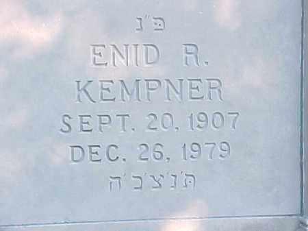 KEMPNER, ENID R - Pulaski County, Arkansas   ENID R KEMPNER - Arkansas Gravestone Photos