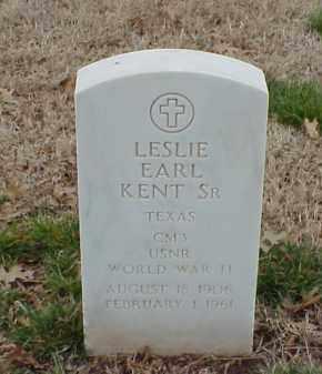 KENT, SR  (VETERAN WWII), LESLIE EARL - Pulaski County, Arkansas | LESLIE EARL KENT, SR  (VETERAN WWII) - Arkansas Gravestone Photos