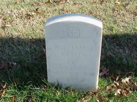 KETON (VETERAN WWII), WILLIAM J - Pulaski County, Arkansas | WILLIAM J KETON (VETERAN WWII) - Arkansas Gravestone Photos