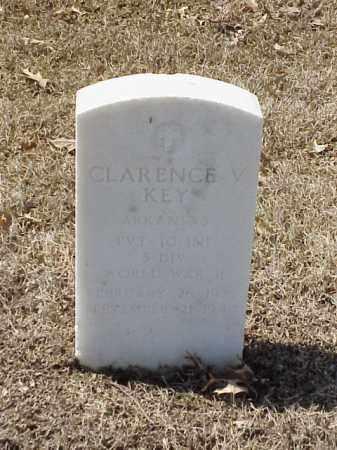 KEY (VETERAN WWII), CLARENCE V - Pulaski County, Arkansas | CLARENCE V KEY (VETERAN WWII) - Arkansas Gravestone Photos