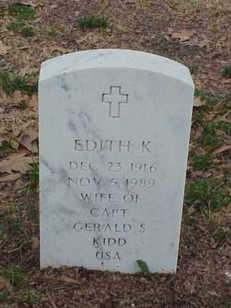 KIDD, EDITH K - Pulaski County, Arkansas   EDITH K KIDD - Arkansas Gravestone Photos