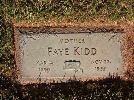 KIDD, FAYE - Pulaski County, Arkansas | FAYE KIDD - Arkansas Gravestone Photos