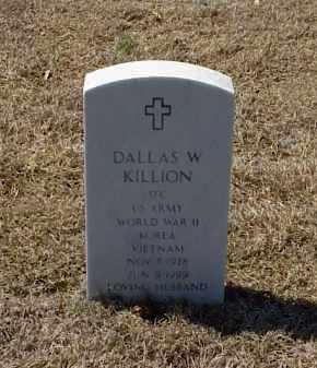 KILLION (VETERAN 3 WARS), DALLAS W - Pulaski County, Arkansas | DALLAS W KILLION (VETERAN 3 WARS) - Arkansas Gravestone Photos