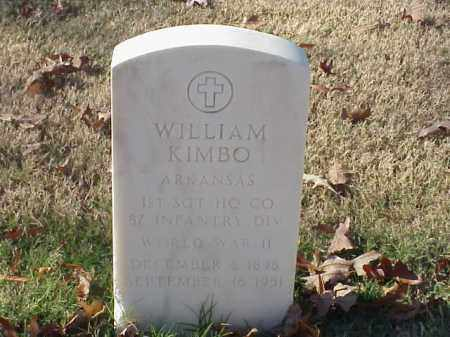 KIMBO (VETERAN WWII), WILLIAM - Pulaski County, Arkansas | WILLIAM KIMBO (VETERAN WWII) - Arkansas Gravestone Photos