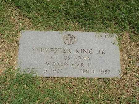 KING, JR (VETERAN WWII), SYLVESTER - Pulaski County, Arkansas   SYLVESTER KING, JR (VETERAN WWII) - Arkansas Gravestone Photos