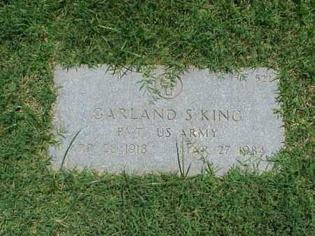 KING (VETERAN), GARLAND S - Pulaski County, Arkansas | GARLAND S KING (VETERAN) - Arkansas Gravestone Photos