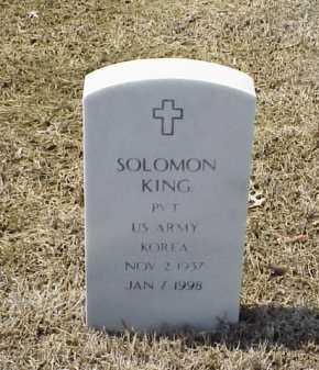 KING (VETERAN KOR), SOLOMON - Pulaski County, Arkansas | SOLOMON KING (VETERAN KOR) - Arkansas Gravestone Photos