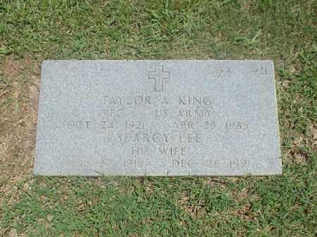 KING, SEARCY LEE - Pulaski County, Arkansas | SEARCY LEE KING - Arkansas Gravestone Photos