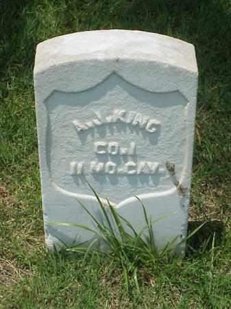 KING (VETERAN UNION), A J - Pulaski County, Arkansas   A J KING (VETERAN UNION) - Arkansas Gravestone Photos