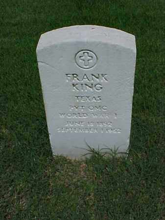 KING (VETERAN WWI), FRANK - Pulaski County, Arkansas | FRANK KING (VETERAN WWI) - Arkansas Gravestone Photos
