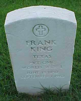 KING (VETERAN WWI), FRANK - Pulaski County, Arkansas | FRANK KING (VETERAN WWI) - Arkansas Gravestone Photos